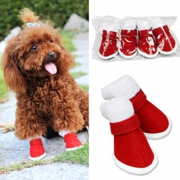 Legendog Christmas Dog Boots Anti-slip Soft Cotton Snow Boots Winter Warm Boots Puppy Boots Pet Boots Dog Shoes