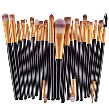 Gocheaper Brushes,20 pcs/set Makeup Brush Set tools Make-up Toiletry Kit Wool Make Up Brush Set(Black+White)