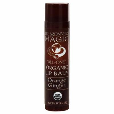 Dr. Bronners - Magic Organic Lip Balm Orange Ginger - 0.15 oz. (pack of 12)