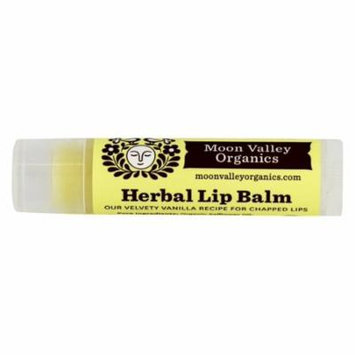 Moon Valley Organics - Herbal Lip Balm Vanilla - 0.15 oz. (pack of 12)