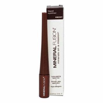 Mineral Fusion - Liquid Mineral Eyeliner Ebony - 0.1 oz. (pack of 6)