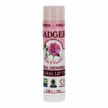 Badger - Mineral Lip Tint Rose & Vanilla Opal Shimmer - 0.15 oz. (pack of 12)