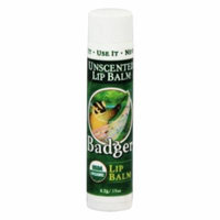 Badger - Lip Balm Stick Unscented - 0.15 oz. (pack of 6)