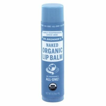 Dr. Bronners - Magic Organic Lip Balm Naked - 0.15 oz. (pack of 12)