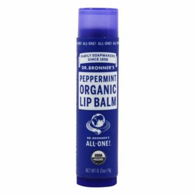 Dr. Bronners - Magic Organic Lip Balm Peppermint - 0.15 oz. (pack of 12)