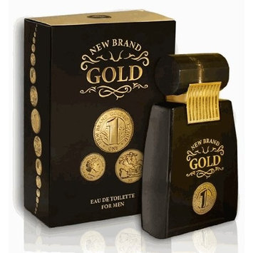 Gold By New Brand 3.4 oz. Eau De Toilette Spray Men