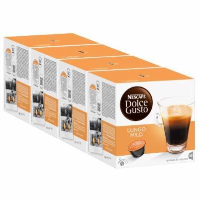 Nescafé Dolce Gusto Caffe Lungo mild, Pack of 4, 4 x 16 Capsules