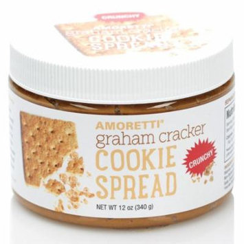 Amoretti Natural Crunchy Graham Cracker Cookie Spread, 12 Ounce