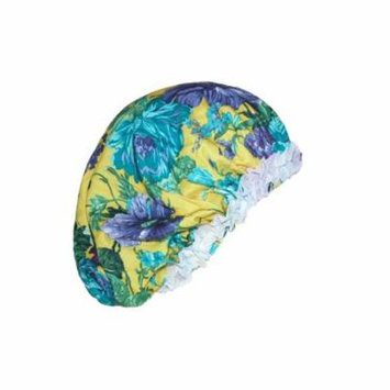 CTM Women's Satin Hair Roller Sleep Cap Cover with Argan Oil, , Size: one size Multi-Color
