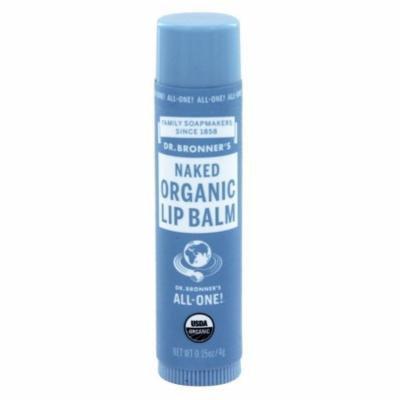 Dr. Bronners - Magic Organic Lip Balm Naked - 0.15 oz. (pack of 6)