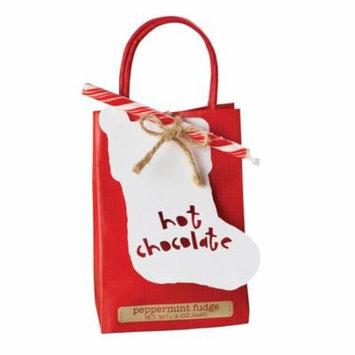 Peppermint Fudge Hot Chocolate Mix Gift Bag