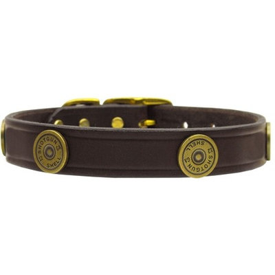 Mirage Pet Products 8206 24BG Shotgun Shell Leather Burgundy 24