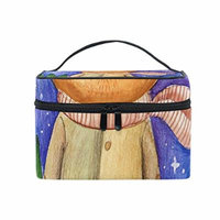 Portable Travel Makeup Cosmetic Bag Watercolor Cat With Book Durable Toiletry Organizer Train Case for Women Girls