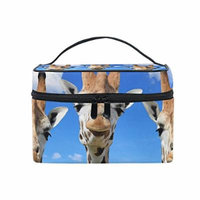 Portable Travel Makeup Cosmetic Bag Funny Giraffes Durable Toiletry Organizer Train Case for Women Girls