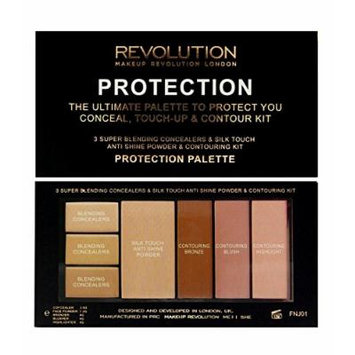 Makeup Revolution Protection Palette For The Entire Face Color Medium 0.67 oz
