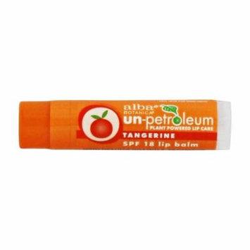 Alba Botanica - Un-Petroleum Lip Balm Tangerine 18 SPF - 0.15 oz. (pack of 6)