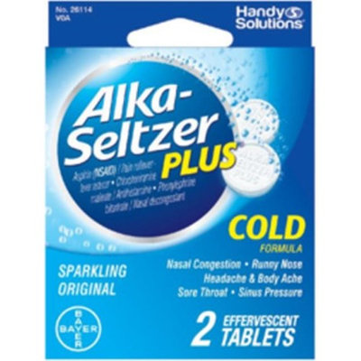 Alka-Seltzer 1945396 Seltzer Plus Cold Tablet 2 Count - Case of 6