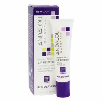Andalou Naturals - Age Defying Argan + Mint Lip Remedy - 0.4 oz. (pack of 6)