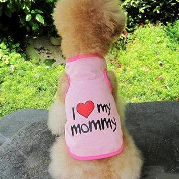 Dog Vest, Legendog Cute I LOVE MY DADDY / MOMMY Pet Dog Clothes Dog Apparel for Pet Puppy