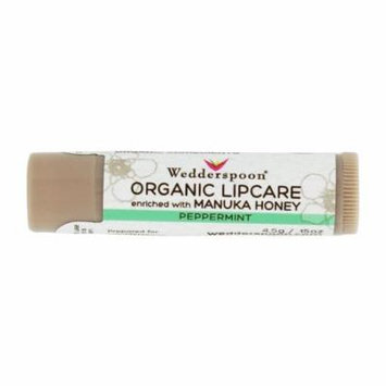 Wedderspoon - Organic Lipcare Enriched with Manuka Honey Peppermint - 0.15 oz. (pack of 2)