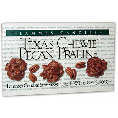 Lammes Candies Texas Chewie Pecan Praline (Pack of 2), 6 Oz. Ea.