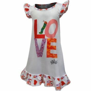 Eric Carle Hungry Caterpillar LOVE Toddler Nightgown