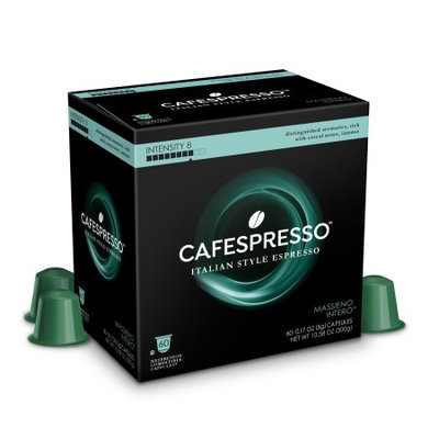 Trilliant Food Cafespresso Massieno Intero, Nespresso ® Compatible Capsules, 60 count (5 g) capsules, Intensity Level 8