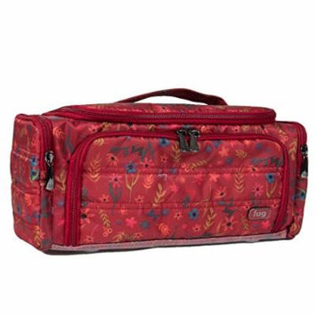 Lug Women's Trolley Cosmetic Case, Garden Party Red