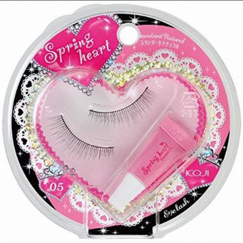 KOJI Spring Heart False Eyelashes, #5 Standard Natural, 0.5 Pound by Koji