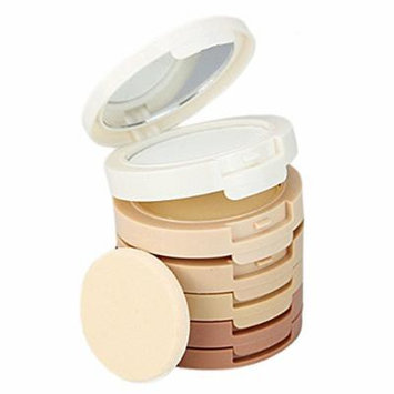 Gosear 5-Color Makeup Powder Palette Foundation Makeup Contour Highlighter Shadow Powder Palette with Mirror Powder Sponge