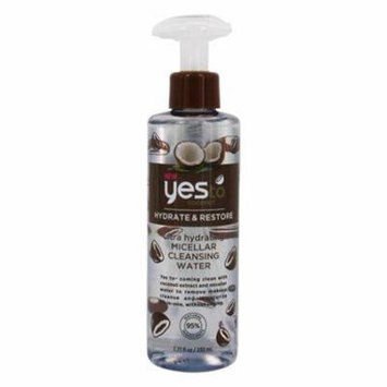 Ultra Hydrating Micellar Facial Cleansing Water Coconut - 7.77 fl. oz. by Yes To (pack of 6)