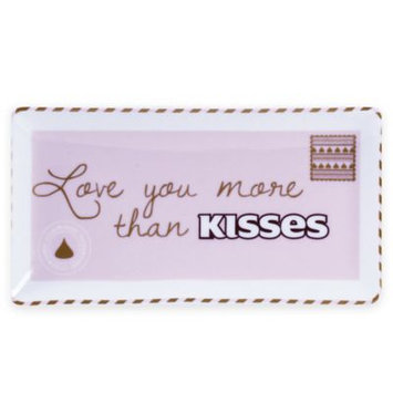 Hershey's by Fitz and Floyd® Sweet Notes More Than KISSES Rectangle Dish in Pink