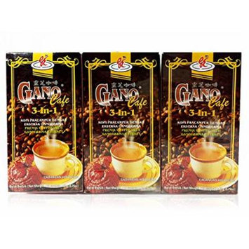 3 Boxes GanoCafe 3 In 1 Instant Ganoderma Gourmet Coffee (20 Sachets Per Box)
