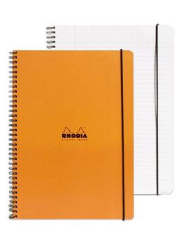 Rhodia Elasti-Books ruled with margin, 8 1/4 in. x 11 3/4 in, orange [pack of 2]