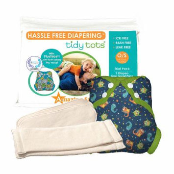 Tidy Tots Hassle Free 2 Diaper Trial Set with Monsters Cover