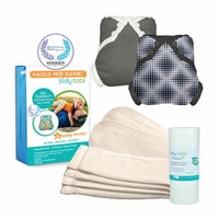 Tidy Tots Hassle Free 4 Diaper Essential Set with Diamond Dots and Grey Covers