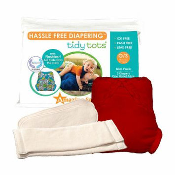 Tidy Tots Hassle Free 2 Diaper Trial Set with Red Cover