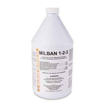 Harvard Chemical 624 Milban 1-2-3 Water Damage Restoration Sanitizer, Pleasant Odor, 1 Gallon Bottle, Clear (Case of 4)
