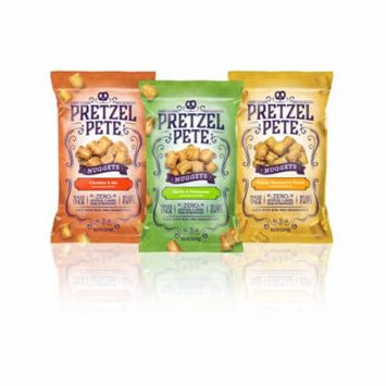 Pretzel Pete Seasoned Pretzel Nuggets, Variety Pack, 9.5 Oz, Pack of 3