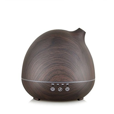 400ml Ultrasonic Aroma Essential Oil Diffuser, Wood Grain Cool Mist Humidifier, Auto Shut-off Function, Siutable For Home Living Room Baby Room Study Office Spa Yoga