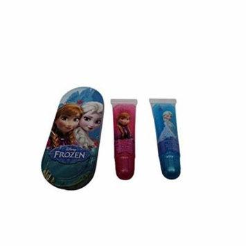 Disney Frozen Lip Gloss Set with Mini Tin Carrying Case 0.2 oz each - NEW