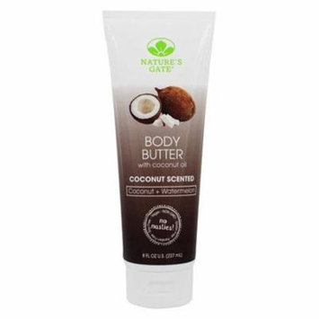 Body Butter with Coconut Oil Coconut + Watermelon - 8 fl. oz. by Nature's Gate (pack of 3)