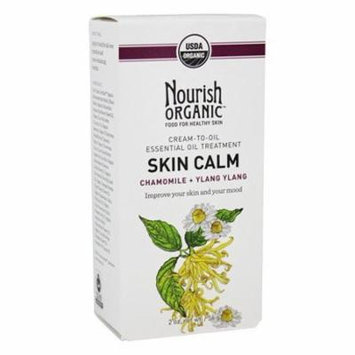 Organic Cream To Oil Essential Oil Treatment Skin Calm Chamomile + Ylang Ylang - 2 oz. by Nourish (pack of 2)