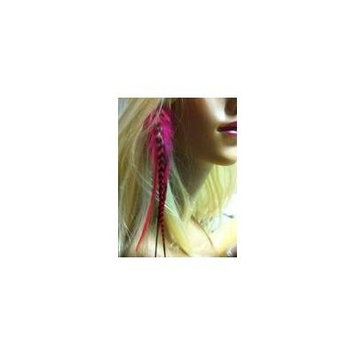 4 -7 in Length Sexy Red & Grizzly Wide Fluffy Feathers for Hair Extension