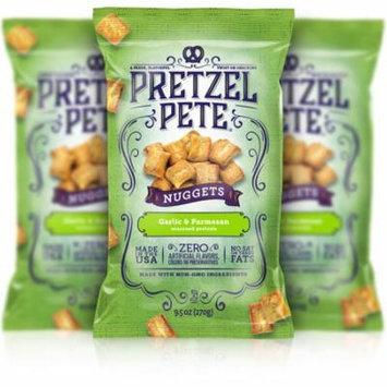 Pretzel Pete Pretzel Nuggets, Parmesan Garlic, 9.5 Oz, Pack of 3