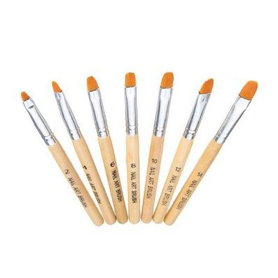 Fine Art - Nail Tools - 7pcs Nail Art Brhes Set Kit Diy Design Drawing Painting Manicure Tools Wooden Handle Grip Drawing Picture Handgrip Design