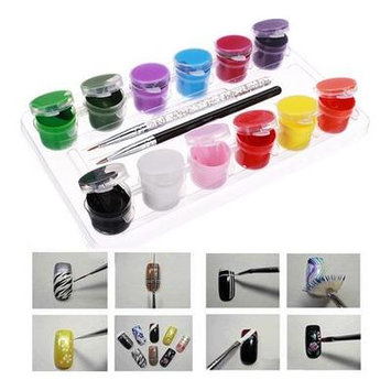 Fine Art - Nail Tools - Colors Acrylic Nail Art Paint Set Nail Art Brh Pen Copse Fine Art Fine Art Paint Colours - 1PCs