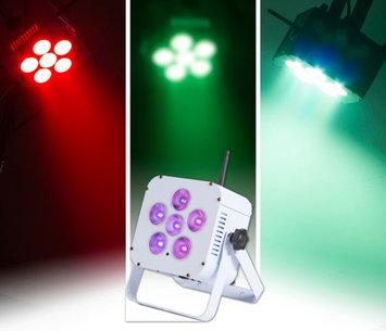 ColorKey MobilePar Hex 6 Cordless and Wireless RGBAW+UV LED PAR Wash Light White