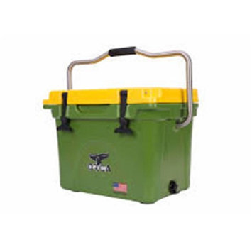 John Deere TS3006001WH22Q 22 qt Lit Cooler with Green & Yellow