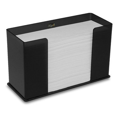TrippNT 52914 Counter Top Black Acrylic Fold/Multifold Paper Towel Dispenser, 11 1/4 x 6 5/8 x 4 5/8 inches WHD